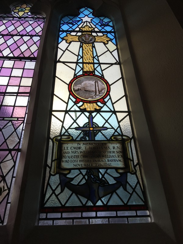 L: Memorial Window in Portishead Methodist Church photo