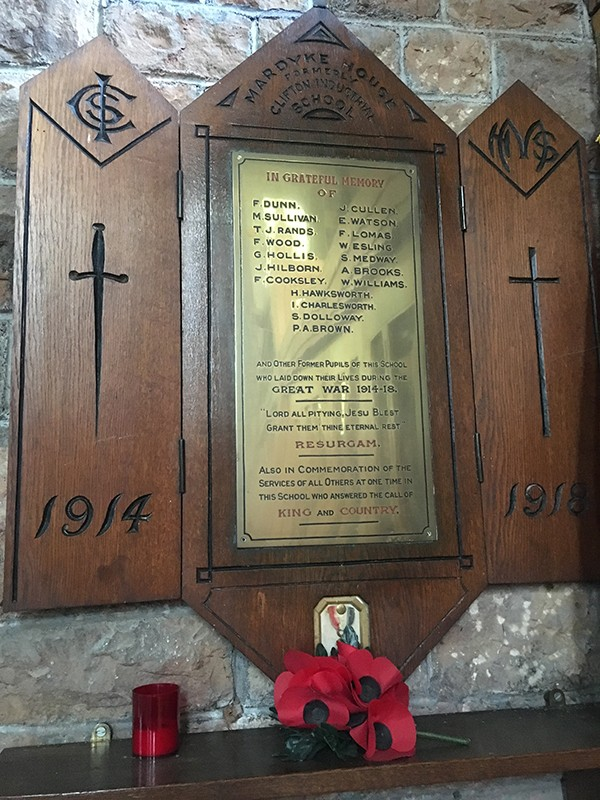 D: Memorial to boys of the Mardyke House School photo